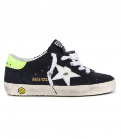 GOLDEN GOOSE  - SUPERSTAR SUEDE LEATHER STAR
