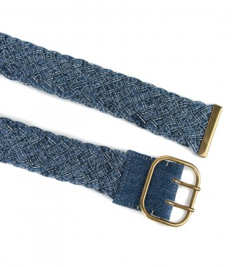BRAIDED DENIM BELT