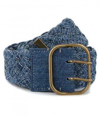 PHILOSOPHY DI LORENZO SERAFINI - BRAIDED DENIM BELT