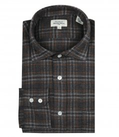 CLOTHES - CHECKED FLANNEL PAUL REGULAR SHIRT