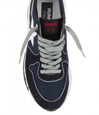 DEEP BLUE RUNNING SOLE SNEAKERS