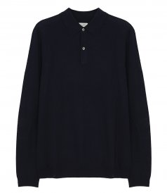 HARTFORD - MERINO BUTTONED WOOL POLO
