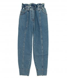 CLOTHES - HIGH-RISE TAPERED JEANS