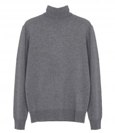 CLOTHES - WOOL AND CASHMERE ROLL NECK SWEATER