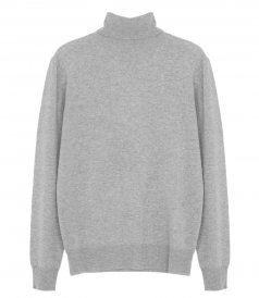 JUST IN - WOOL AND CASHMERE ROLL NECK SWEATER