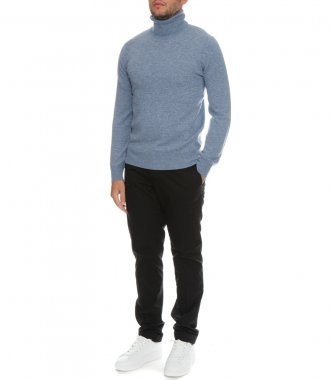 WOOL AND CASHMERE ROLL NECK SWEATER