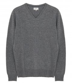 CLOTHES - WOOL AND CASHMERE VEE NECK SWEATER