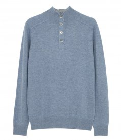 CLOTHES - WOOL AND CASHMERE HIGH-NECK SWEATER