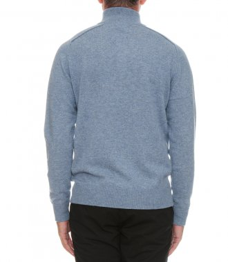 WOOL AND CASHMERE HIGH-NECK SWEATER