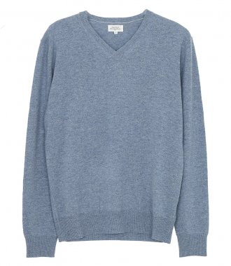 HARTFORD - WOOL AND CASHMERE VEE NECK SWEATER