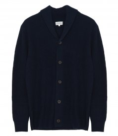CLOTHES - RIB WOOL AND CASHMERE CARDIGAN