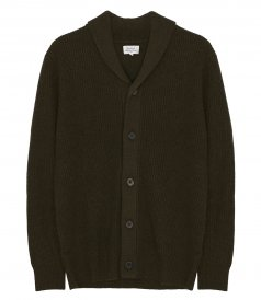 HARTFORD - RIB WOOL AND CASHMERE CARDIGAN
