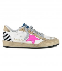 SHOES - ZEBRA HEEL BALLSTAR SNEAKERS