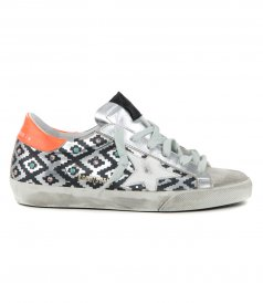 RHOMBUS PRINT SUPERSTAR SNEAKERS