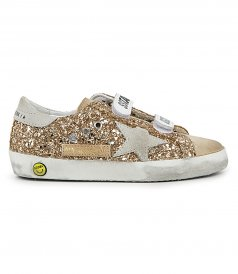 GOLD GLITTER OLD SCHOOL SNEAKERS