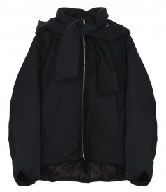 JACKETS - SHORT DUVET PARKA WITH TIE