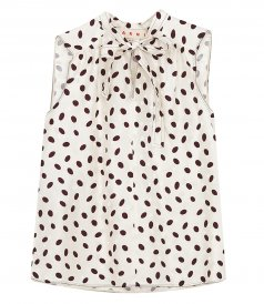 MARNI - BUBBLE PRINT LOGO VISCOSE BOW TOP