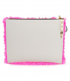 JUST IN - HALF SHEARLING POCHETTE BAG