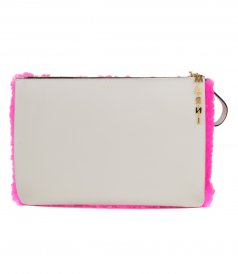 MARNI - HALF SHEARLING CLUTCH BAG