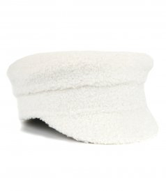 ACCESSORIES - FAUX-SHEARLING BAKER BOY HAT
