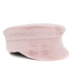ACCESSORIES - FAUX FUR BAKER BOY CAP