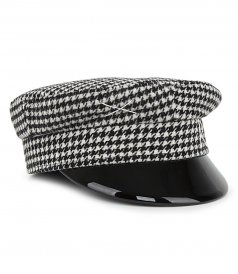 HOUNDSTOOTH CHECK BAKER BOY HAT