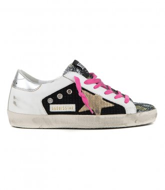 GOLDEN GOOSE  - GLITTER TOE SUPESTAR SNEAKERS