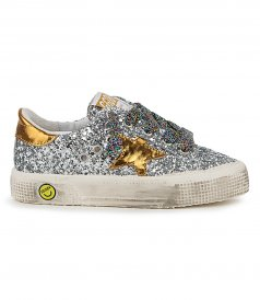 SHOES - MAY SILVER GLITTER SNEAKERS