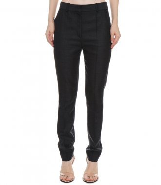 SKINNY FLANNEL WOOL TROUSER