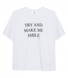 TOPS - TRY AND MAKE ME SMILE T-SHIRT
