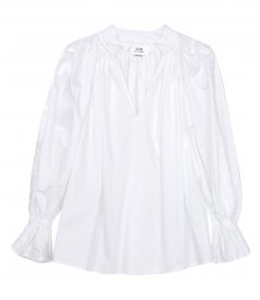 TOPS - EMBROIDERED PRAIRIE TOP IN WHITE
