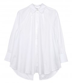 SHIRTS - RUCHED DETAIL OPEN BACK ORGANIC COTTON SHIRT