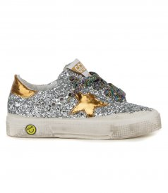 GOLDEN GOOSE  - GLITTER UPPER MAY SNEAKERS