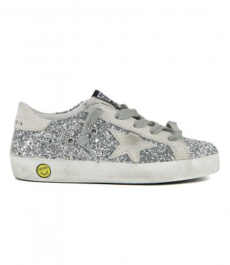 GOLDEN GOOSE  - GLITTER UPPER SUPERSTAR SNEAKERS