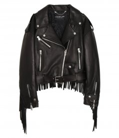 JUST IN - OVERSIZE FRINGLES MOTORCYCLE JACKET
