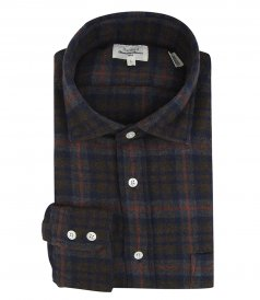 SALES - CHECKED FLANNEL PAUL REGULAR SHIRT