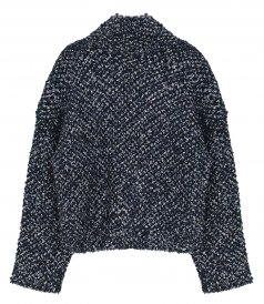 SALES - BOUCLE JACQUARD CROPPED SWEATER