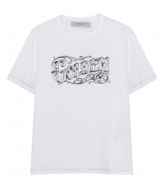 GOLDEN GOOSE  - ADAMO DECORATED T-SHIRT