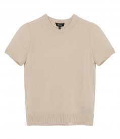 TOPS - BASIC SWEATER TEE IN FEATHER CASHMERE
