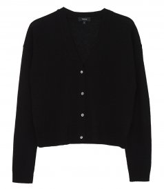 JUST IN - CROPPED CARDIGAN IN FEATHER CASHMERE
