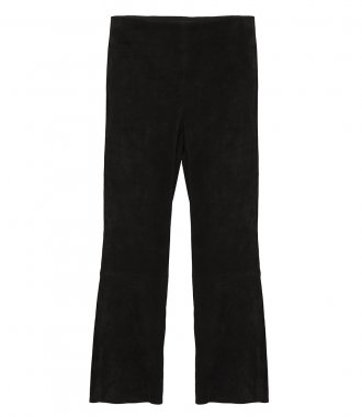 THEORY - PULL-ON KICK PANT IN STRETCH SUEDE