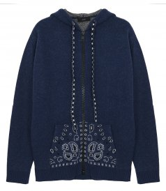 JUST IN - BANDANA ZIPPED HOODIE