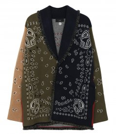 CLOTHES - BANDANA PATCHWORK CARDIGAN