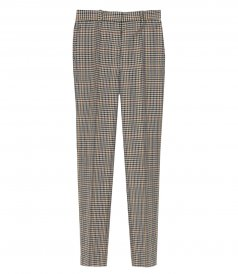 CLOTHES - DRAIN PIPE WOOL CHECK TROUSERS