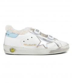 GOLDEN GOOSE  - OLD SCHOOL LAMINATED STAR SNEAKERS