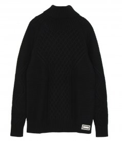 JUST IN - OVERSIZED CASHMERE CABLE SWEATER