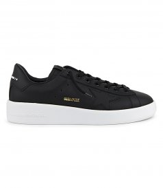 SHOES - BLACK UPPER AND STAR PURE STAR SNEAKERS
