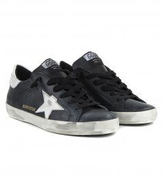 SHINY LEATHER STAR SUPERSTAR SNEAKERS