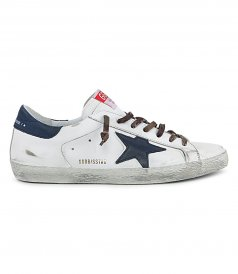 GOLDEN GOOSE  - NABUK STAR SUPERSTAR SNEAKERS