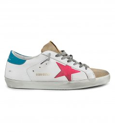 GOLDEN GOOSE  - SUPER STAR SUEDE TOE AND STAR